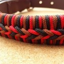 Leather collar with braiding